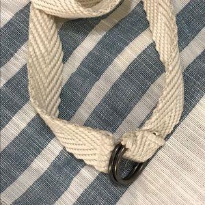 Boy's Old Navy Belt. Cream/Off White. 14.